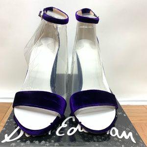 Sam Edelman Shoes - Sam Edelman Yaro Purple Velvet Sandal